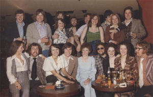 Wishing Well staff Christmas party sometime around 1973 (recognise anyone ?)