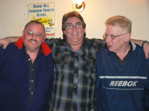 Wishing Well reunion 2007.left to right; Gary Jackson, Mike Prince, 'Rockin' Roy Atkinson (R.I.P.)